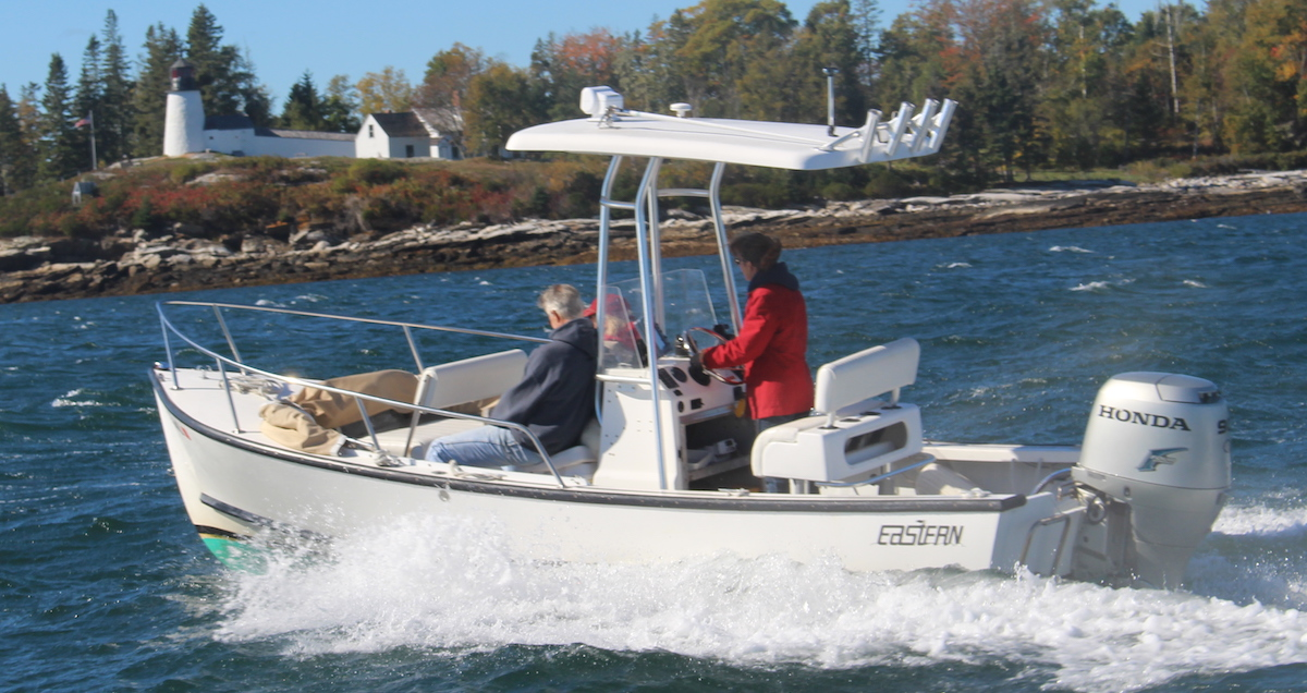 Eastern 19 T-Top off Burnt Island, Boothbay Harbor, Maine